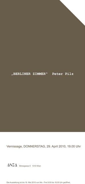Peter Pilz BERLINER ZIMMER –  29.4.2010 – ANZA Wien