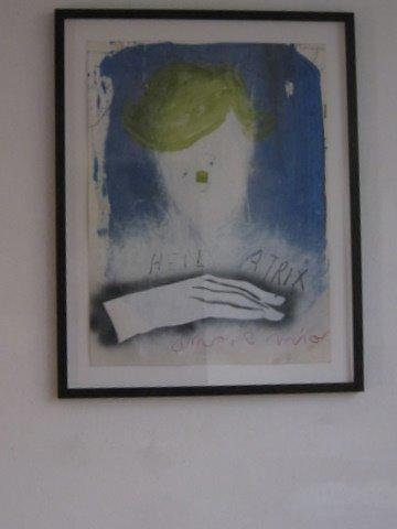 LUNIA CZECHOWSKA (Heil Atrix) Öl, Kreide ,Pencil auf Büttenpapier 63×50 (2010)