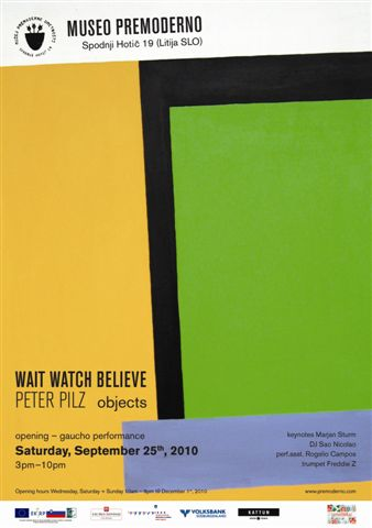 Peter Pilz WAIT WATCH BELIEVE – 25.9.2010 – Museo Premoderno